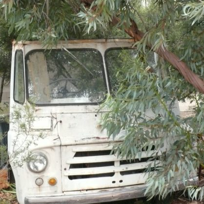 Remnants Of An Old Austin Truck In The Gardens At The National Road Transport Hall Of Fame