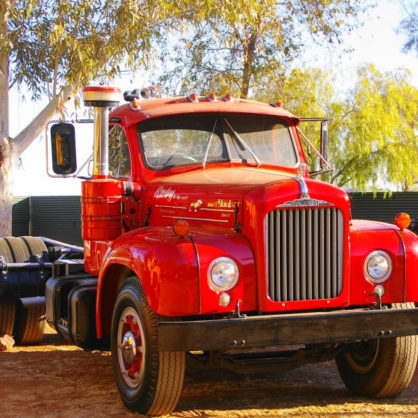 This Bright B61 Single Drive Mack Named Ruby Was Donated By David Jones And Restored By Barry Clough