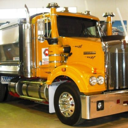 This Kenworth Sar Is Fitted With An Aluminium Telco Tipper And Caterpillar Acert Engine