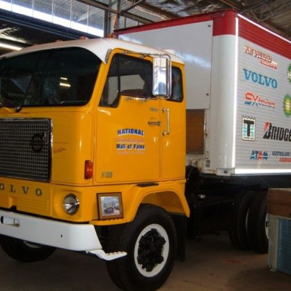 Volvo F88 Donated By Volvo Australia And Safety Education Trailer Set Donated By The Australian Trucking Association