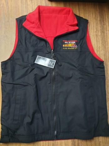 RTHF  black and red vest