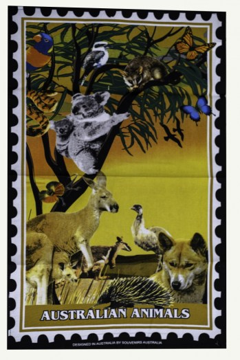 teatowel Australian animals7